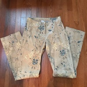 Wilson's Maxima leather floral patterned pants